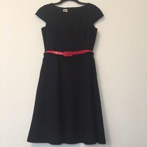 Anne Klein Fit & Flare Dress Black Size 12
